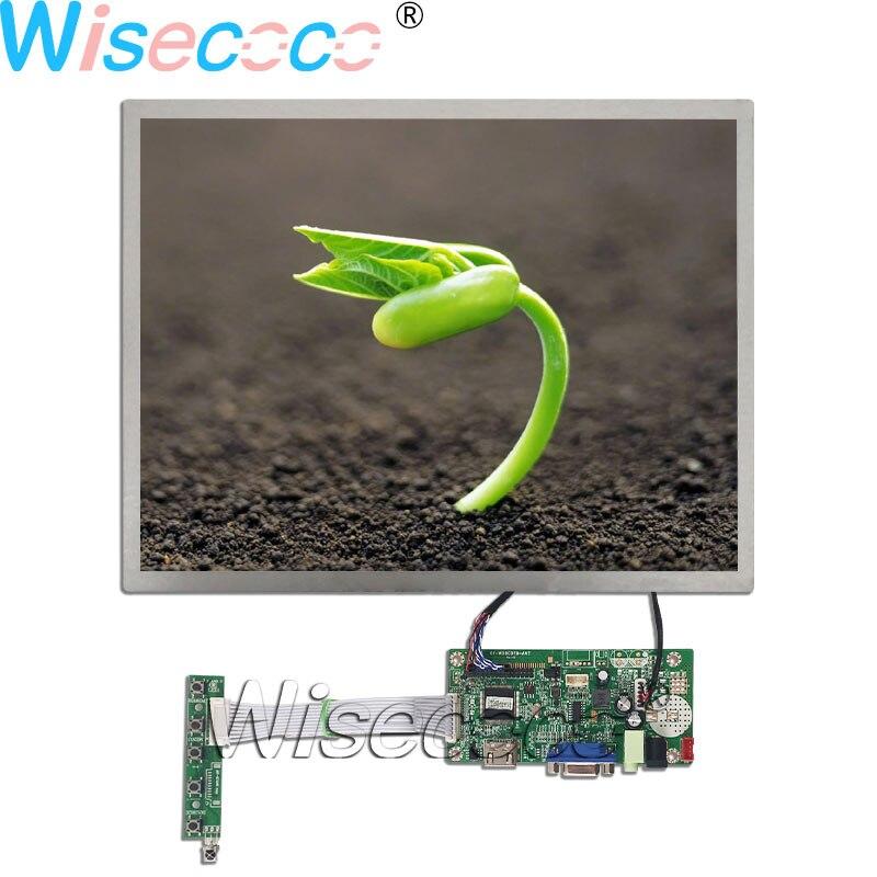 Wisecoco 15,0 pulgadas 1024 × 768 IPS pantalla LCD 20 pines LVDS con HDMI VGA Placa de controlador de auriculares M150GNN2 R1 r2 R3