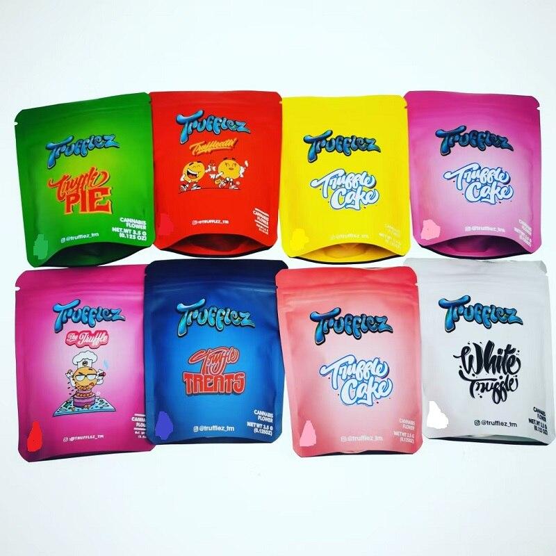 Sacchetti di torta rosa Tfuffleatti rossi sacchetti di nocciolo reale confezioni vuote 9.8x12.2cm borsa con chiusura a Zip fiore Mylar a prova di bambino