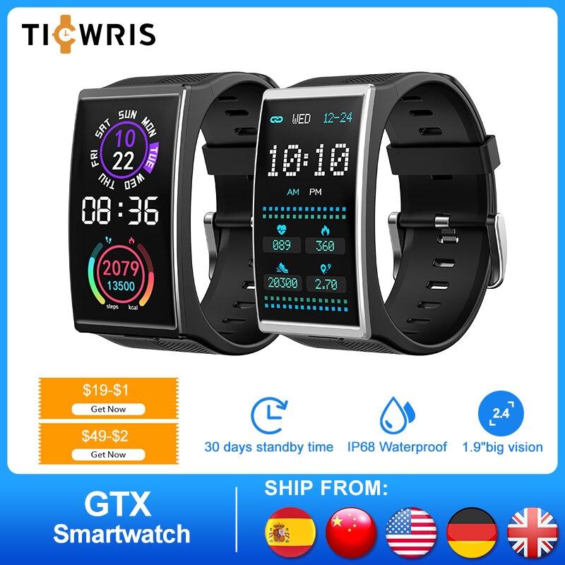 NEW TICWRIS GTX Smart Watch Men IP68 Waterproof Sports Fitness Tracker Smartwatch Blood Pressure Monitor For Android IOS Xiaomi