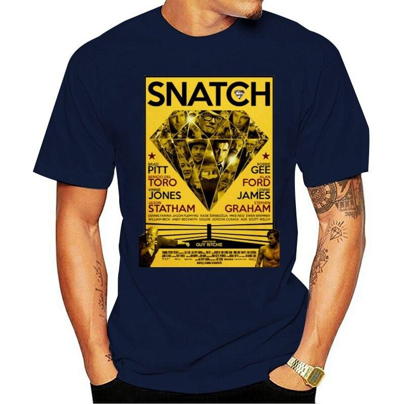 2021 de moda de ocio 100% de algodón o-Cuello camiseta Snatch v3...