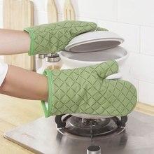 Guantes de silicona antiescaldadura para horno microondas, guantes especiales para hornear, aislamiento térmico espesante y hig