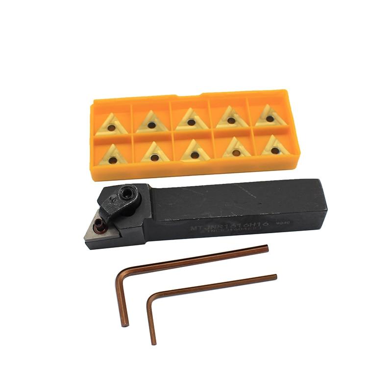 1 Uds MTJNR1616H16 + 10 Uds TNMG160404 R UE6020 inserción de carburo para torno CNC soporte para herramientas de giro