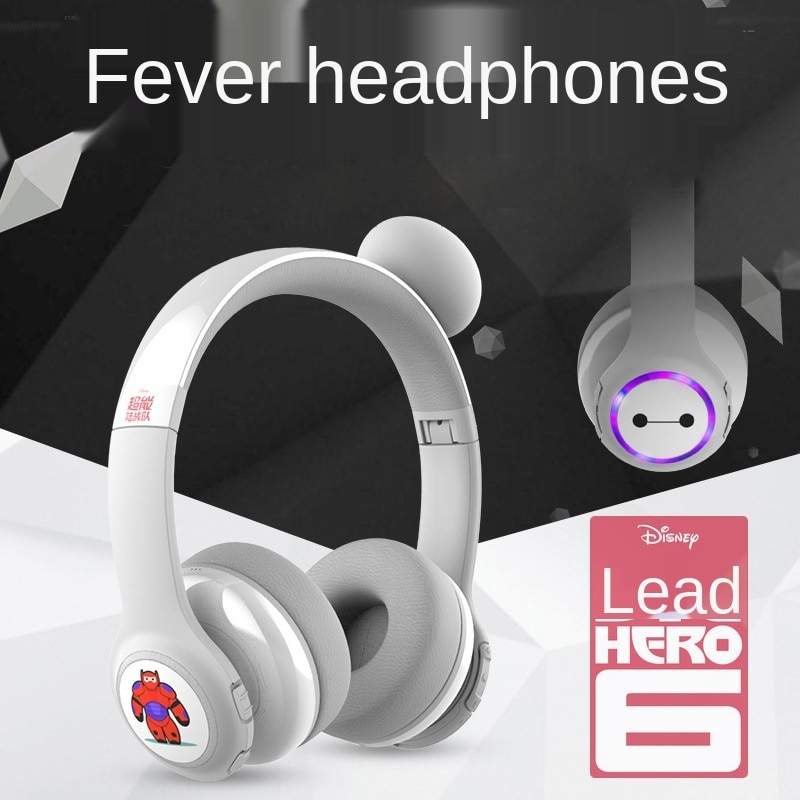 Disney Headset Bluetooth Wireless Wired Learning English Earphone with Microphone Child Hearing Protection Earplugs enlarge