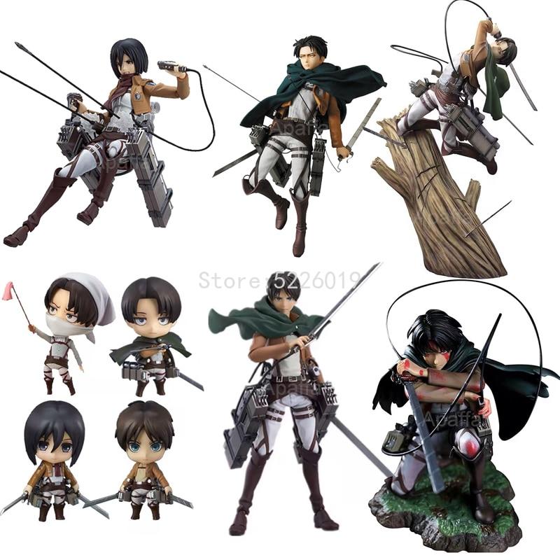 Attack on Titan Anime Figure Artfx J Action Figure 213#Figure 417# 375# 207# Eren Yeager 390# Figurine Toys