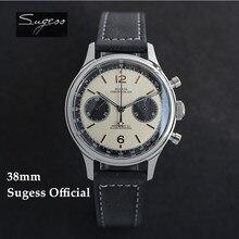 Zegarki móskie – montre-bracelet mécanique pour homme, chronographe, militaire, col de cygne, étoile rouge, 38mm, 1963