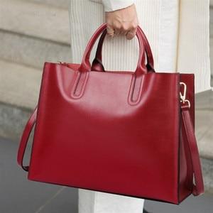Retro Large Capacity Tote big Bag Women Shoulder Bags Lady Commuting PU Leather Purses Bags Solid Color Bag Bolsa handbags