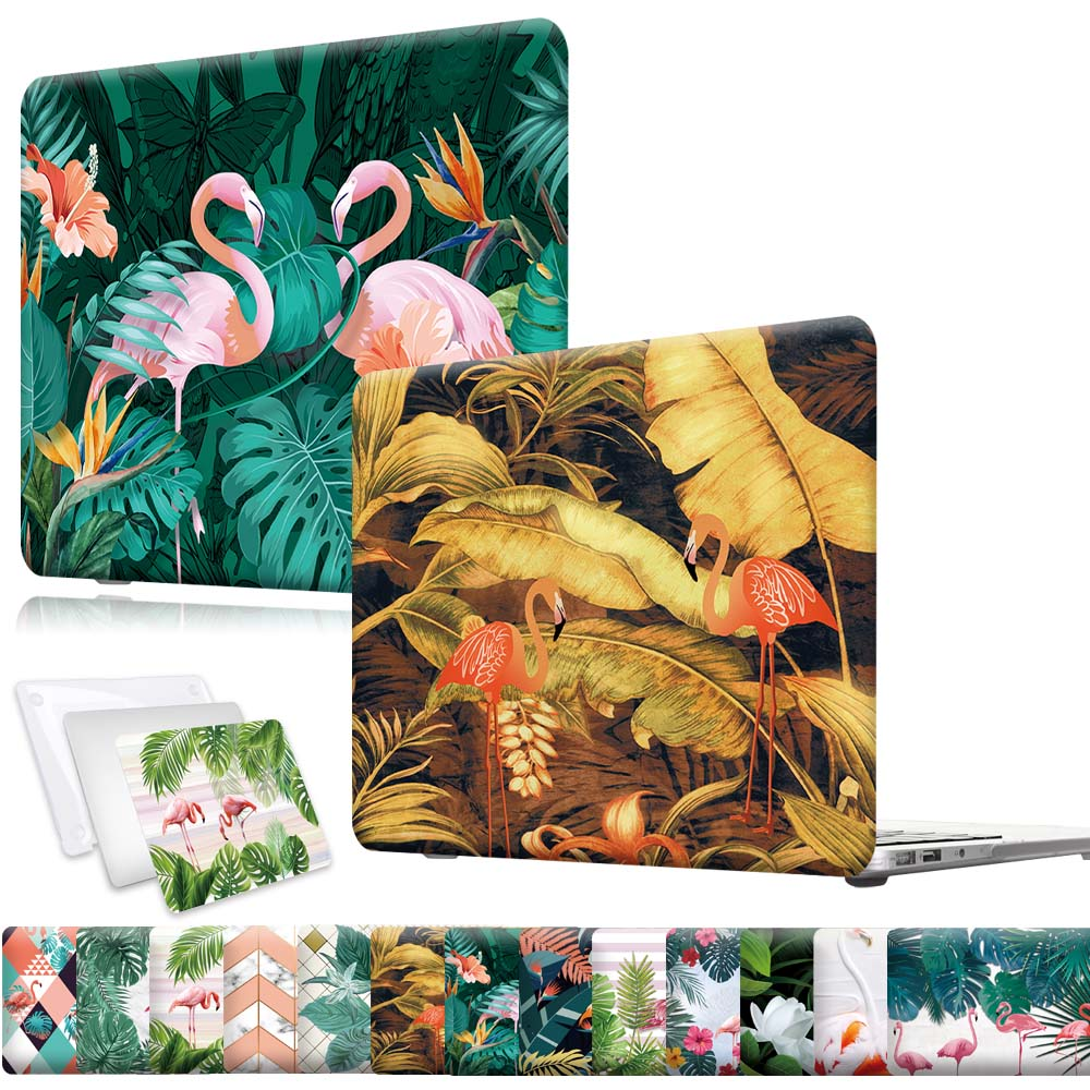 New Shockproof Laptop Case for Apple MacBook Air Pro Retina 12 13 15 16 Inch with Flamingo Pattern Series Laptop Accessories