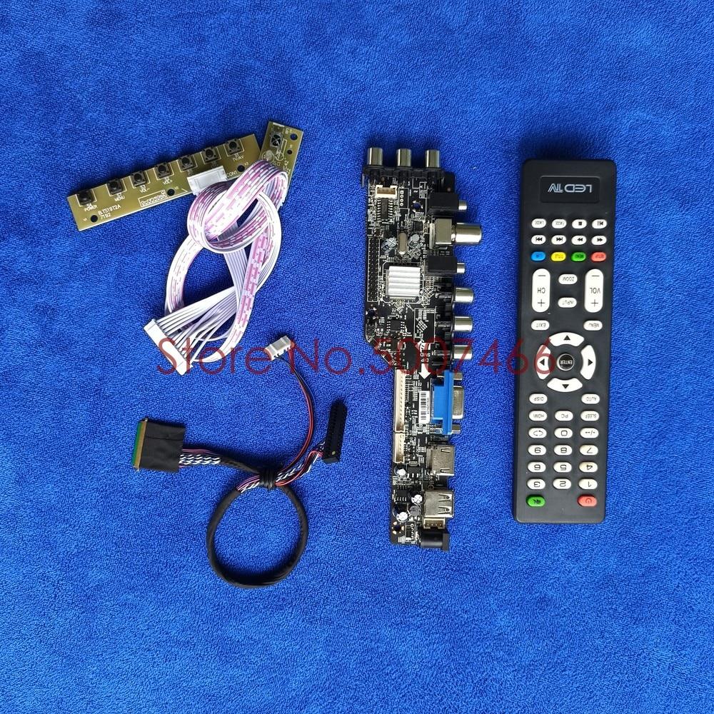صالح LP133WH2-TLL1/TLL2/TLL3/TLL4 AV VGA USB DVB 1366*768 شاشة 40 دبوس LVDS 3663 التلفزيون الرقمية ترقية LCD محرك مجلس DIY عدة