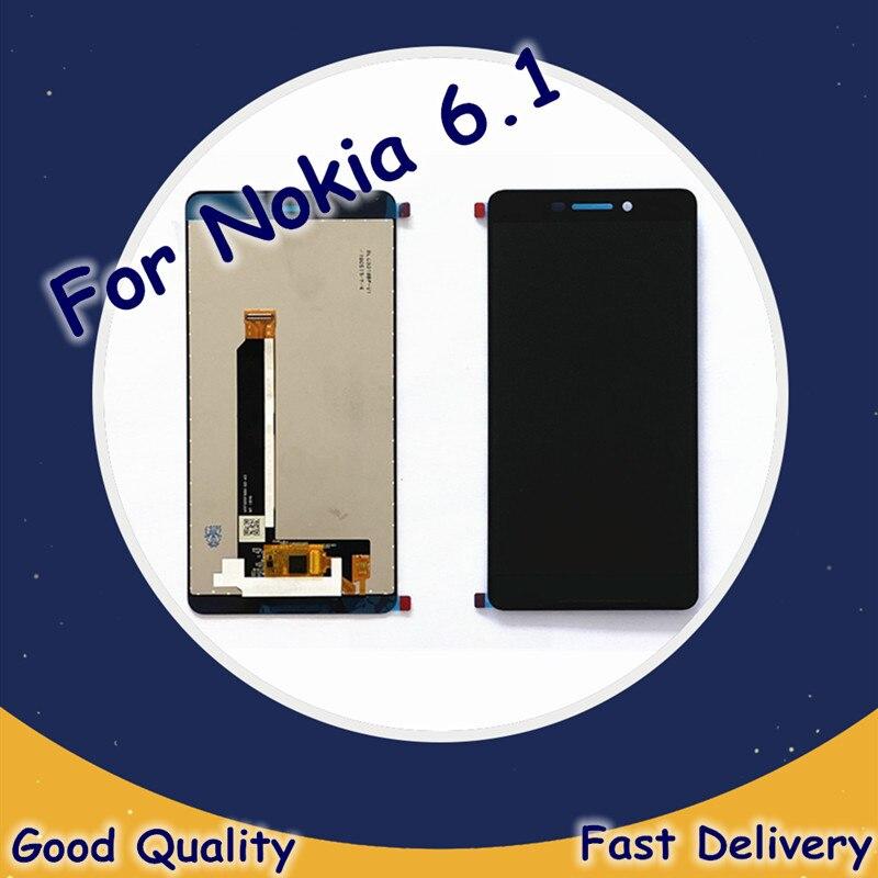 5.5 original original original para nokia 6.1 ta-1043 ta-1045 ta-1054 lcd para nokia 6 2018 display lcd de toque digitador da tela para nokia 6.1