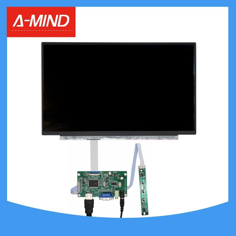 15.6 بوصة متعددة الأغراض شاشة كمبيوتر محمول ذات دقة عالية شاشة عرض مراقب سائق لوحة تحكم HDMI متوافق VGA الصوت ل التوت بي الموز