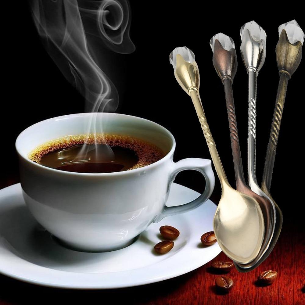 1 шт. высокое качество ретро большая Алмазная кофейная ложка сахарный чай десерт столовые приборы кухонная посуда ложка винтажный Декор H5