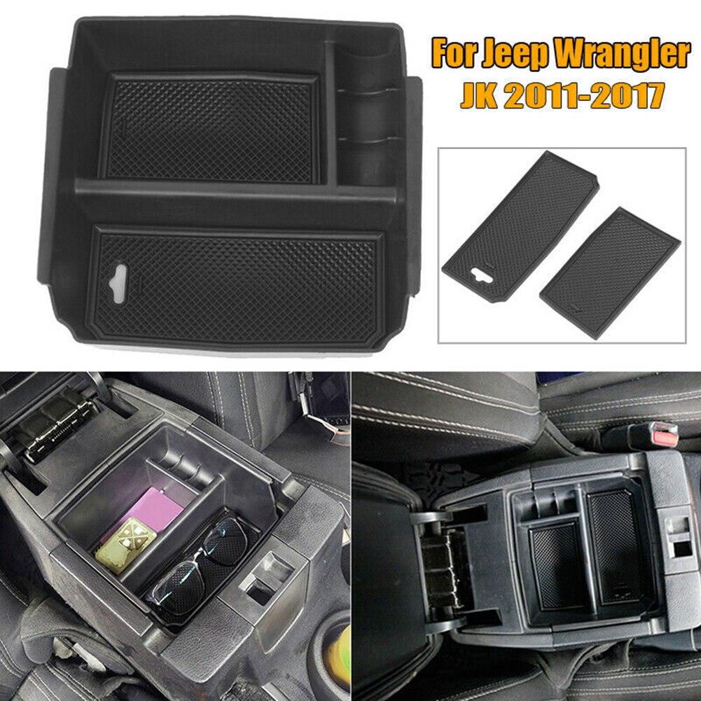 Аксессуары для салона автомобиля, подлокотник, коробка для хранения для Jeep Wrangler JK 2011-2017, полезные автомобильные аксессуары, Органайзер