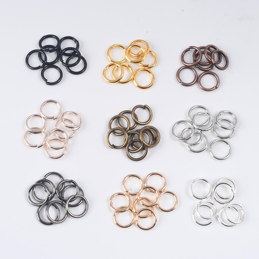 100-200Pcs 3-12mm Single Loop Open Jump Rings Diy Jewelry Making Accessories Split Rings Connectors