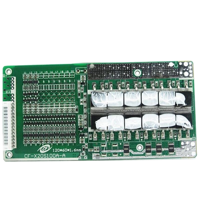 AAAE Top-48V 13S 45A batería Li-Ion Bms Pcb Placa de protección con equilibrio adecuado para la batería Ebike Li-Ion 120X60X9 Mm
