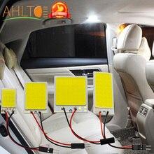 1 Uds. led de lectura para coche T10 Cob W5W C5W 16 24 36 48 Led 7 colores opciones lámpara Techo Luz Domo lámpara BA9S 3 adaptador DC 12V