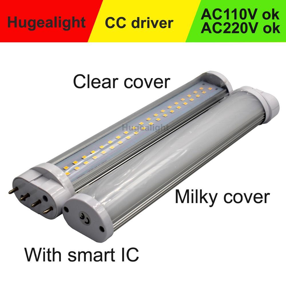 2g11 led Leuchtstoffröhre 4 pins led 2g11 pl Lampe 12w 15w 18w 22w Epistar Diffuse coverAC96-265V Kalten weiß natürliche weiß Warm weiß