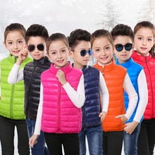 Boys Sleeveless Jacket Vest Girls Cute Vest Winter Down Vest Waistcoats Children Clothing Autumn Kid
