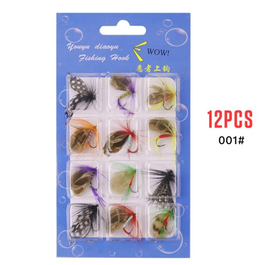 smalley fishing flies 12Pcs/Set Insects Flies Fly Fishing Lures Bait Hook Fishing Wet Flies  Bug Hooks Fish Tackle With Super Sharpened Crank Hook
