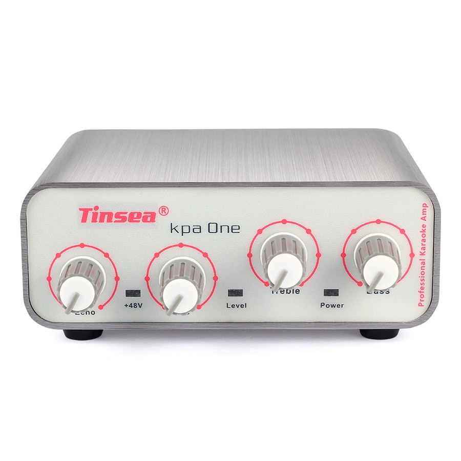 Tinsea Kpa One‖ Professional audio interface microphone amplifier sound card reverberation karaoke with 48V phantom power supply enlarge