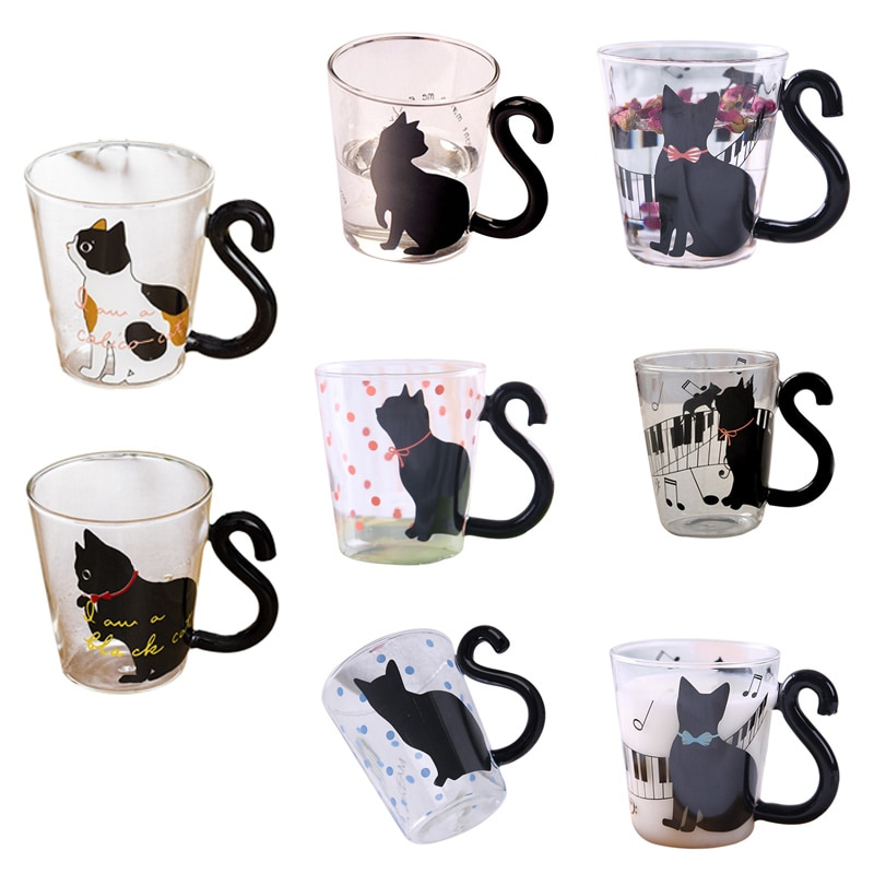 Cute Creative Cat Milk Coffee Mug Water Glass Mug Cup Tea Cup Cartoon Home Office Cup For Fruit Juice Insulated Coffee Mugs