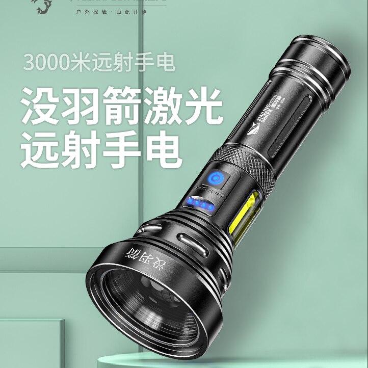 ao ar livre portatil lanterna de longa distancia rapida poderosa lanterna recarregavel