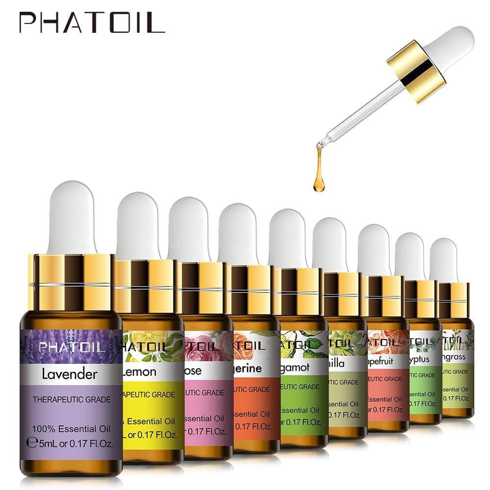 5ml Lavender Vanilla Essential Oil Diffuser Pure Natural Tea Tree Essential Oils Rose Jasmine Vanill