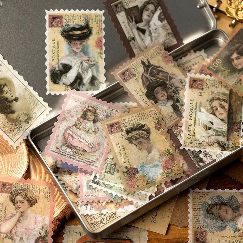 60-unids-pack-washi-pegatina-vintage-adhesivo-de-papeleria-sello-matasellos-flor-animal-diy-etiqueta-decorativa-para-scrapbooking-album