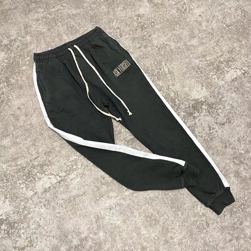 ASKYURSELF Sweatpants رغوة طباعة الرجال النساء ASKYURSELF Sweatpants بنطلون جودة عالية الشريط Askyurself Sweatpants