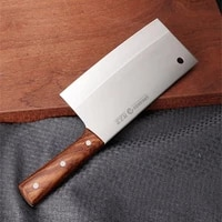 lzy stainless steel chinese style mulberry chef knife kitchen cut meat vegetable knife household professional cutting knives