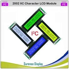 2002 202 20*2 englisch & Japanischen Serielle IIC I2C TWI Charakter LCD Modul Display Gelb Grün Blau w/hintergrundbeleuchtung für Arduino
