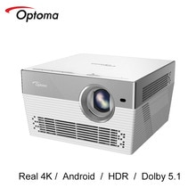Optoma I5 + DLP Proyector 4K 3840*2160 4K LED Video Proyector de TV Android Wifi Bluetooth Beamer casa teatro UHL55 actualización