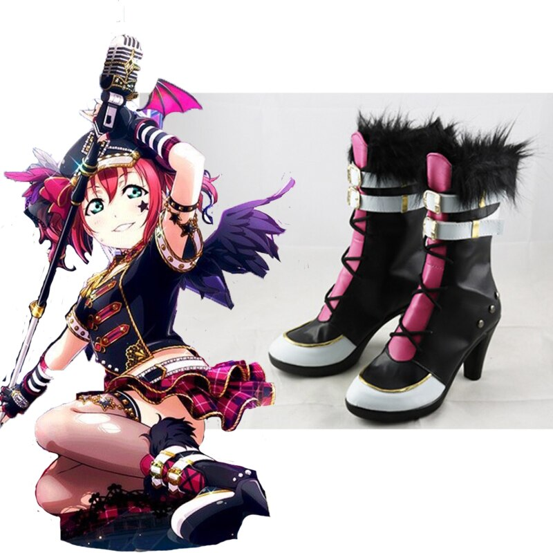 Anime amor ao vivo sapatos cosplay rubi kurosawa cosplay sapatos botas festa de halloween feminino cosplay trajes de lazer diário sapatos