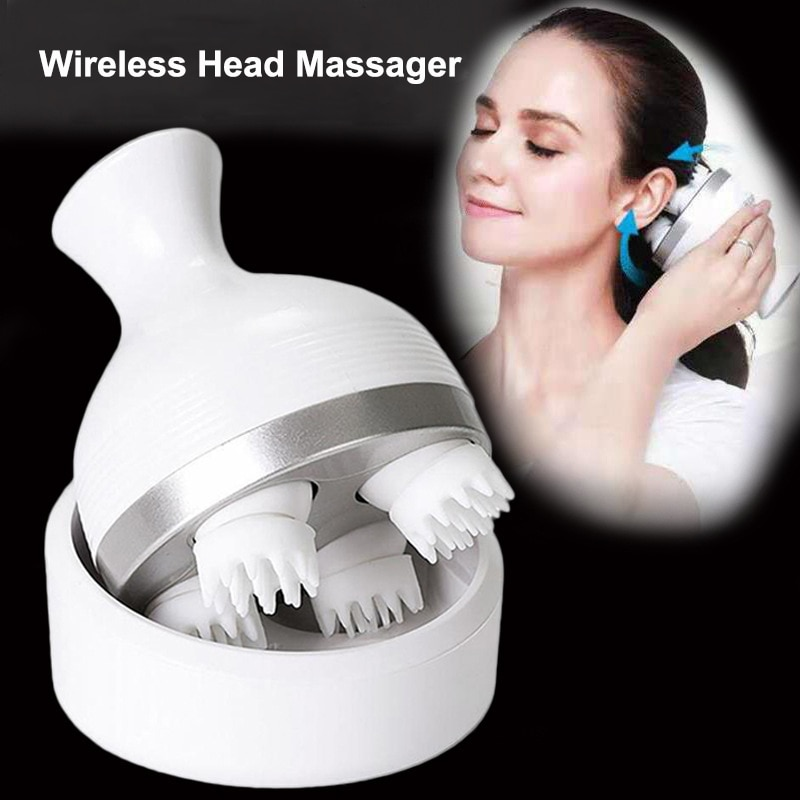 Waterproof Head Massager Electric Vibrating Scalp Body Deep Massage Migraine Relief Prevent Hair Loss Relieve Stress Health Care