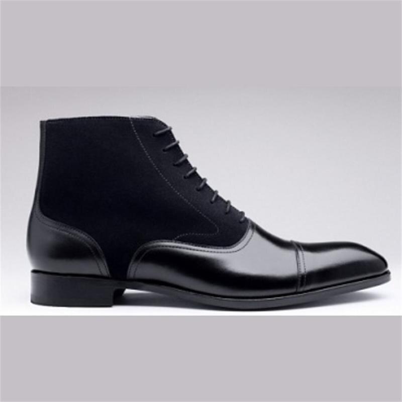 حذاء رجالي موضة تريند انجلترا كل مباراة اليدوية الأسود بولي Stitching خياطة تقليد الجلد المدبوغ سيارة خياطة الدانتيل متابعة حذاء من الجلد 3KC469
