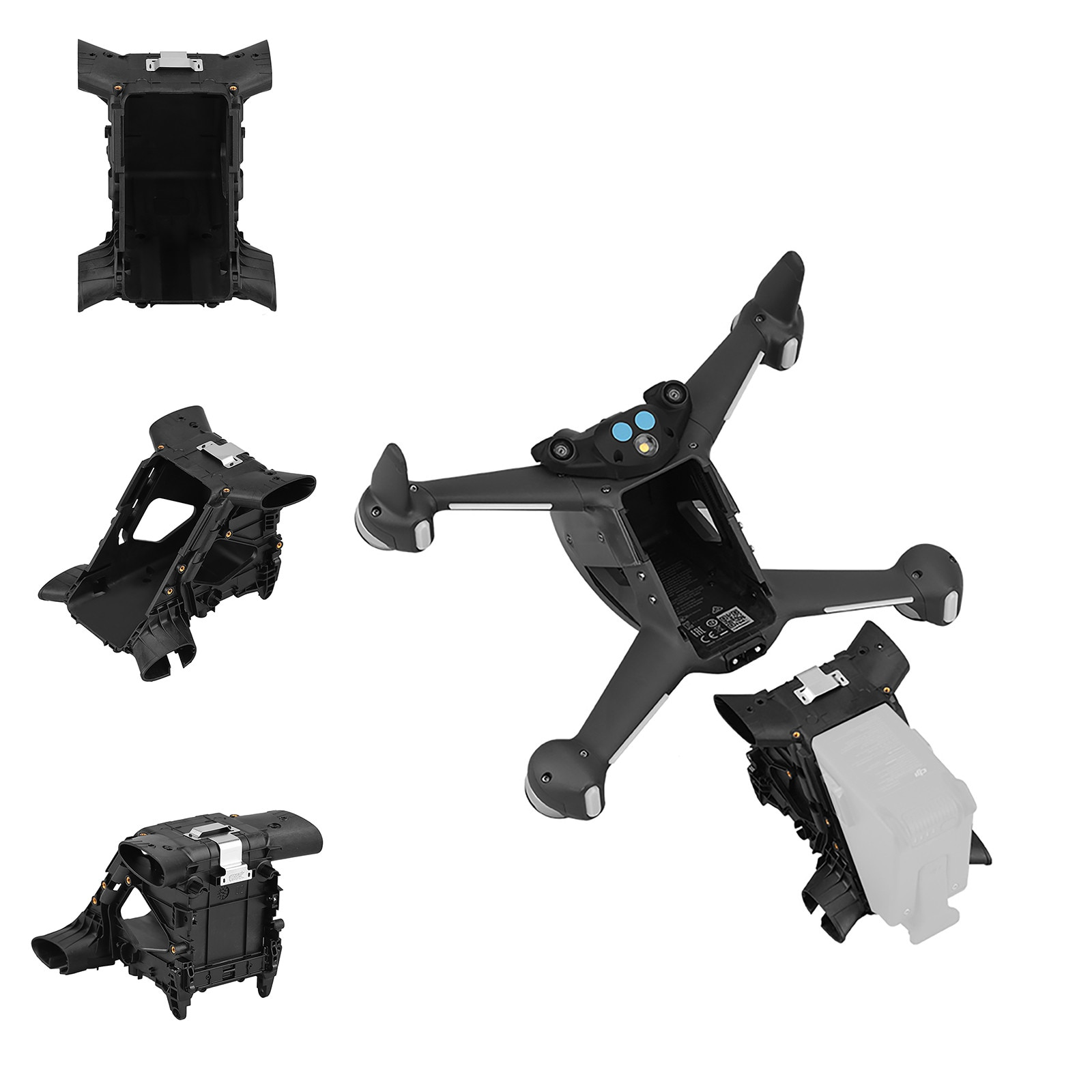 Original Dji Fpv Drone Middle Frame Shell Is Suitable For Dji Fpv Drone Body Repair Parts And Model Airplane Accessories #K