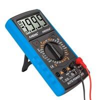 Digital Multimeter LCD Display Multifunctional Count Manual Range Universal Meter AC DC Resistance Capacitance Transistor Tester