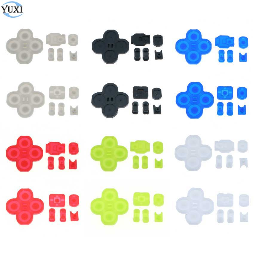 YuXi для Nintendo Switch NS Joy-Con, проводящая пленка для контроллера, резиновая силиконовая кнопочная панель для замены JoyCon
