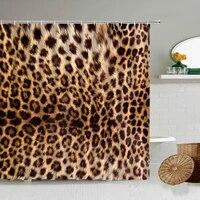 Rideau de douche motif leopard de Style africain  rideau de douche imprime danimaux sauvages  baignoire de salle de bains  decoration de la maison  cadeau