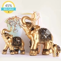 elephant statue lucky feng shui green elephant statue sculpture wealth figurine gift home decoration