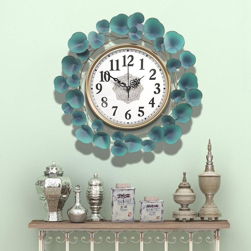 Reloj de pared de estilo nórdico de 58cm con diseño moderno y silencioso, reloj de cuarzo decorativo para sala de estar a la moda de hogar, reloj redondo para pared