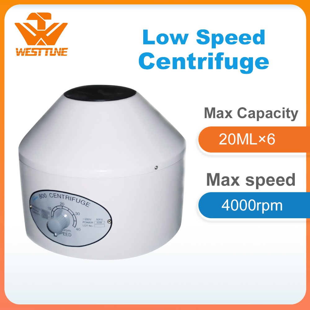 centrifugador eletrico da baixa velocidade do laboratorio 800 velocidade maxima 4000rpm
