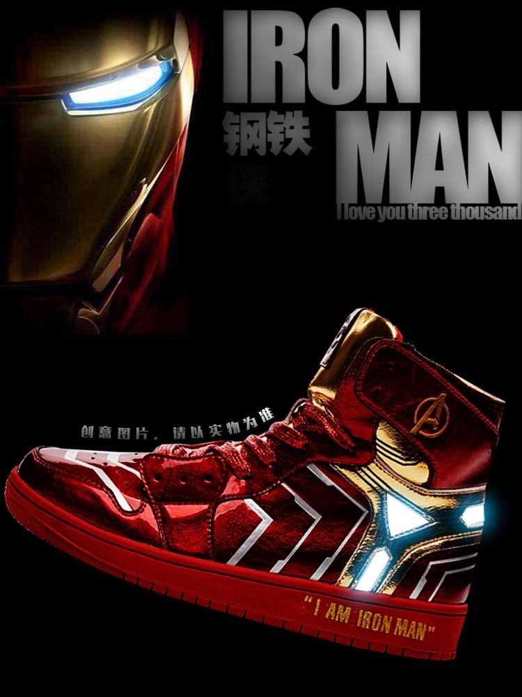 Weideng-أحذية مخصصة للرجال من مطاط البولي يوريثان ، أحذية مقاومة للاهتراء برأس دائري ، تصميم أفنجرز ، Iron Spider America ، للبالغين
