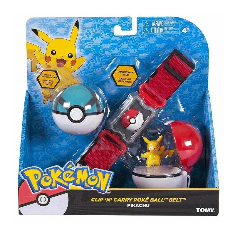 Pokemones BOLA DE 5 estilos con figura cinturón de acción juguetes modelo correa retráctil regalos niños juguetes en caja
