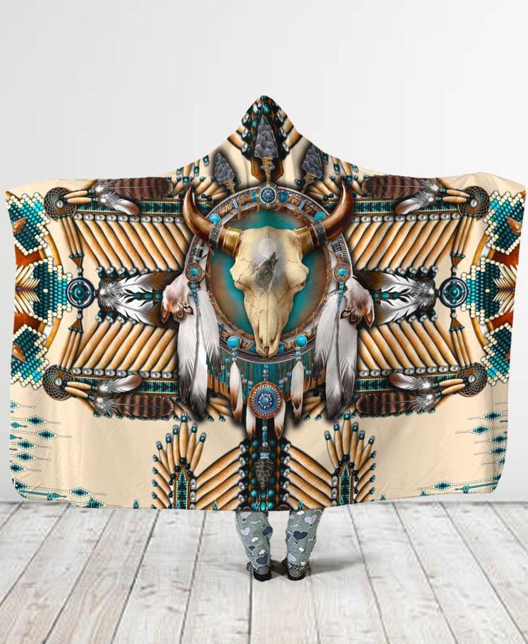 Plstar-بطانية بغطاء للرأس بطبعة كوزموس ثلاثية الأبعاد ، للرجال والنساء ، بنمط رأس الجاموس ، ريش ، طباعة كاملة ثلاثية الأبعاد ، يمكن ارتداؤها ، ل...