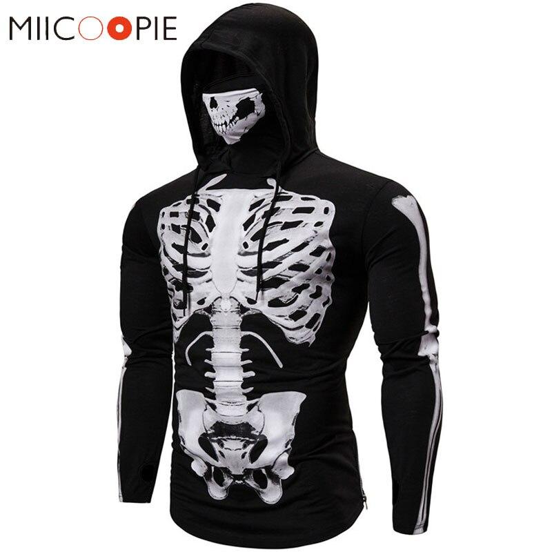 Sudadera con capucha para hombre, máscara de Calavera, Hip Hop, Sudadera con capucha, 3D esqueleto impreso, Cosplay, Sudadera Harajuku, Streetwear