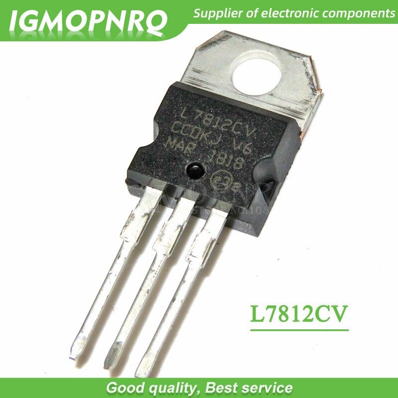 10 unids/lote L7812CV 7812 TO-220 regulador de voltaje IC + 12V 1.5A nuevo Original