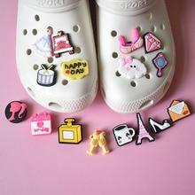 CSBL Shoe Accessories Removable Shoe Ornament Shoe Buckle Cute Cartoon Girl Eva Sandals PVC Crocses