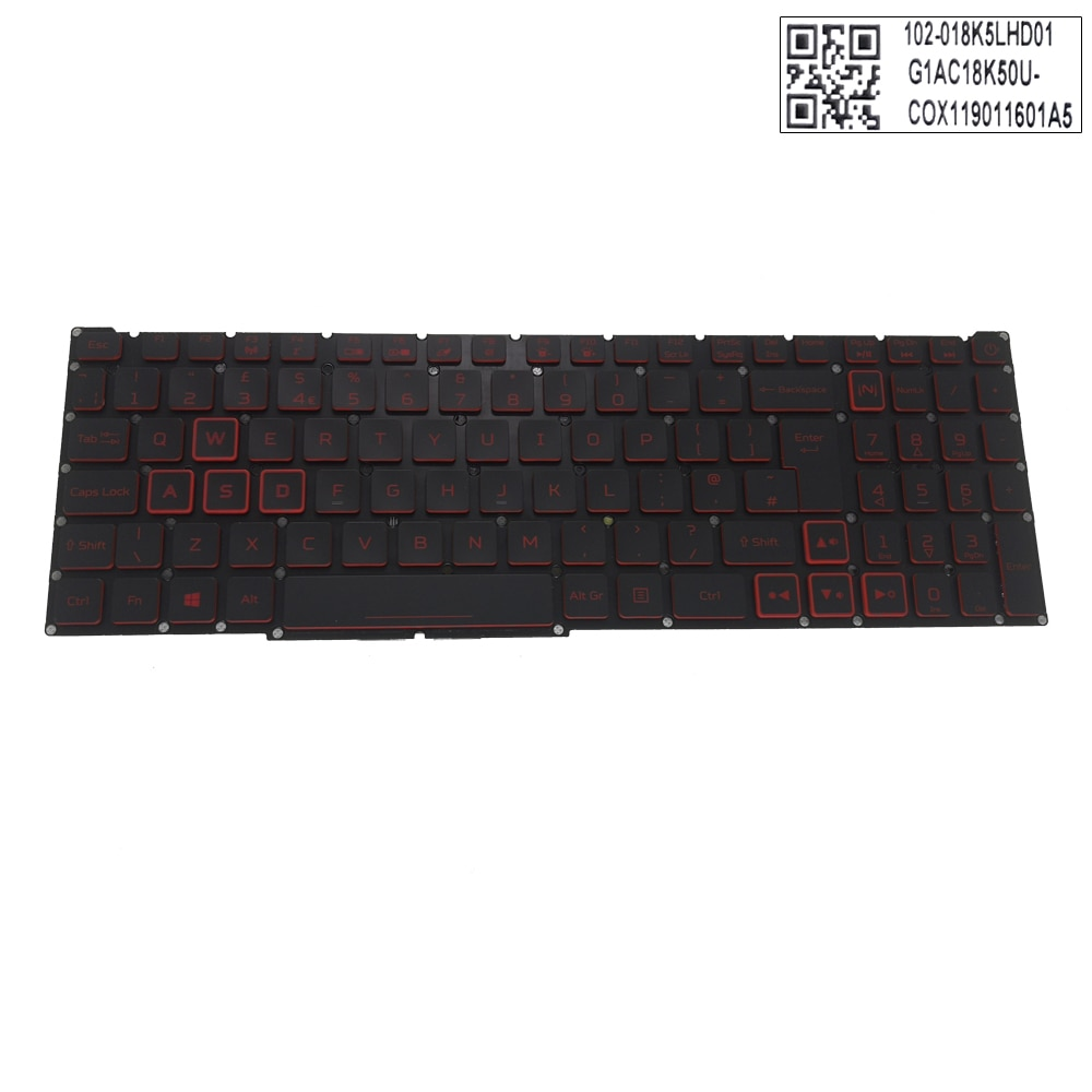 Uk backlit teclados para acer nitro 5 AN515-54 AN515-43 AN517-51 AN715-51 preto teclados do portátil gb original britânico LG5P-P90BBL