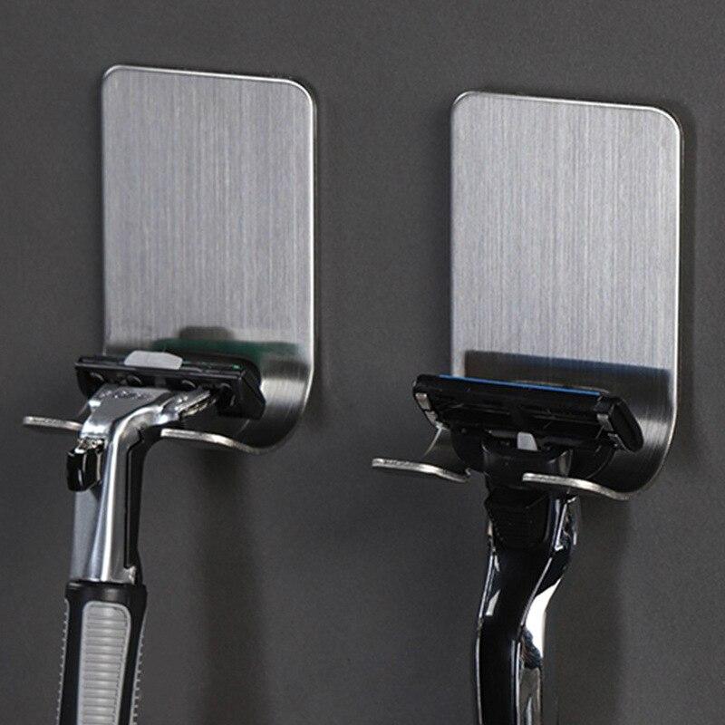 Razor Holder Stainless Steel Men Shaving Shaver Shelf Shaving Razor Rack Bathroom Bedroom Home Visco