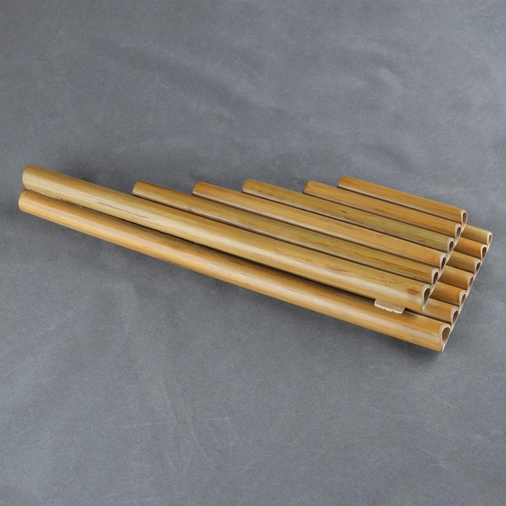 13 Pipes  Pan Flute G Key  Folk Musical Instruments  Original Colour Flute De Pan Woodwind Instrument Handmade Pan Pipes enlarge